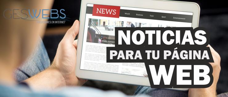 NOTICIASWEB NOTICIAS Y NOVEDADES PARA TU WEB